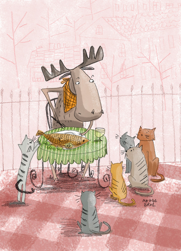 Moose and cats