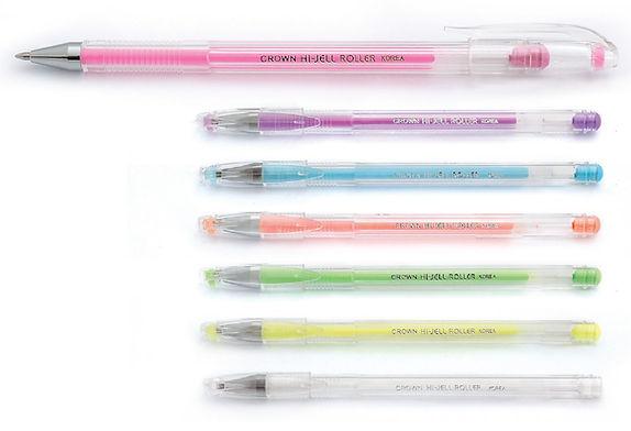 Crown HJR-500P Gel Pen Pastel