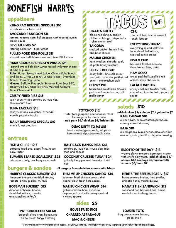 NEW Bonefish Menu UPDATED 7.28 Color Cop