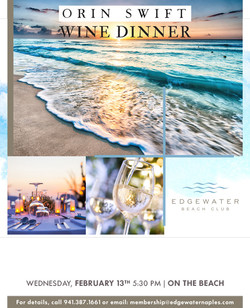 2019 Edgewater Beach Wine Dinner Ad