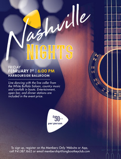 2019 Nashville Nights Flyer Design