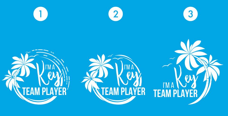2018 Key Team Player Logo Design