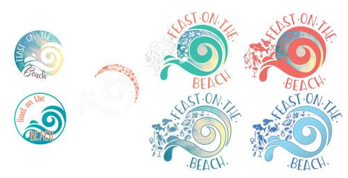 2018 Logo Design Process Feast on The Beach