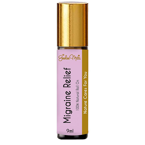 Safe Migraine Relief Roll On Oil Natural for Headaches, Tension & Stress