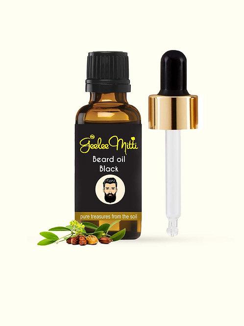 Geeleemitti Beard Oil Black for Beard Grey Hair Treatment & Thickness