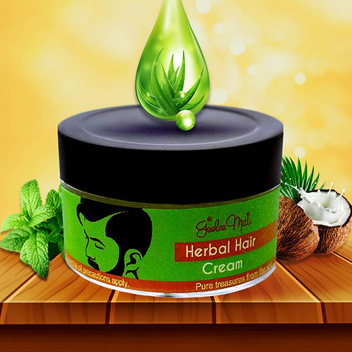 Natural Herbal Hair Cream for Hair Fall Control, Hold, Styling & Wet Look
