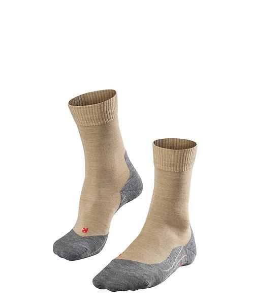 FALKE TK5 Damen Wander-Socken / schwarz, rot, beige