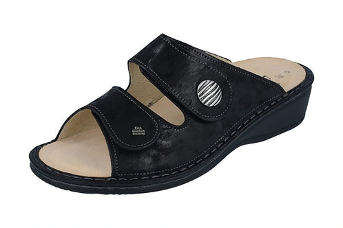 Finn Comfort Panay schwarz Pantolette Hausschuh loese Einlagen