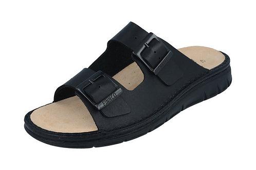 Finn Comfort Cayman schwarzt Hausschuh Pantolette für Einlagen