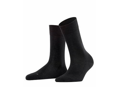 Socke Falke London Sensitive / schwarz  druckfreier Bund