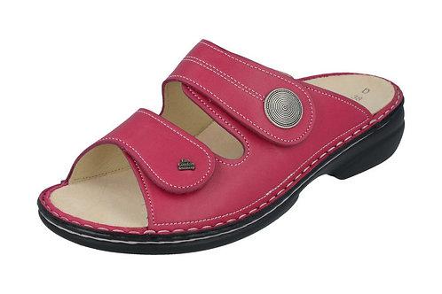 Finn Comfort Sansibar rot berry Pantolette für Schuhe für Einlagen