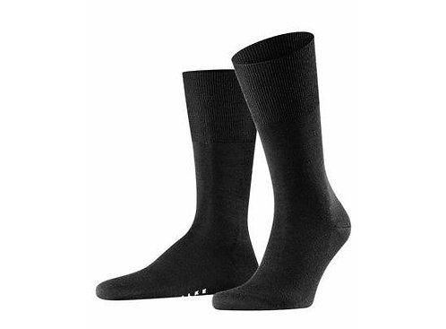 FALKE Airport Herren Socken / schwarz, grau, braun