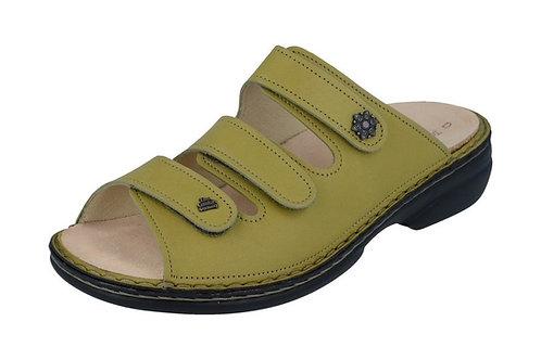 Finn Comfort Pantolette gelb Hausschuh bequem Fussbettung