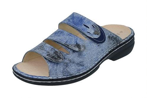 Finn Comfort Kos blau Pantolette Hausschuh Einlagenschuh