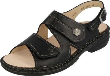 Finn Comfort Milos schwarz Sandale Wechselfussbettung