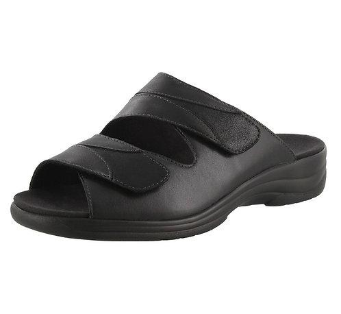 Solidus Lia Moni Hausschuh Pantolette schwarz