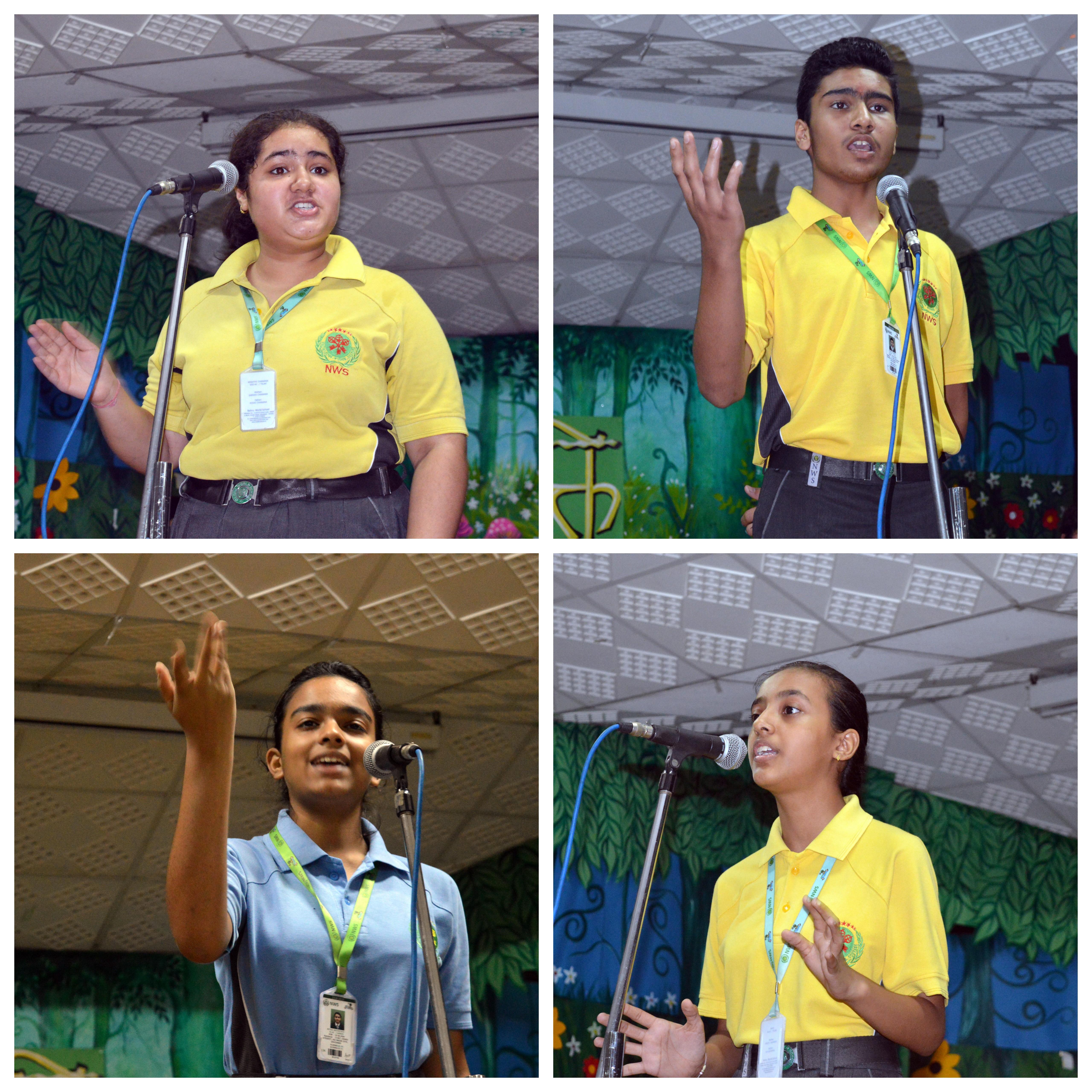Inter House 'Bhavabhivyakti' (Hindi poem recitation) competition
