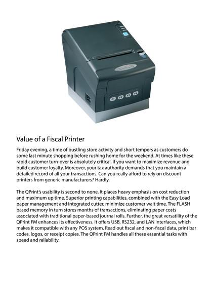 Fiscal printer Qprint fm