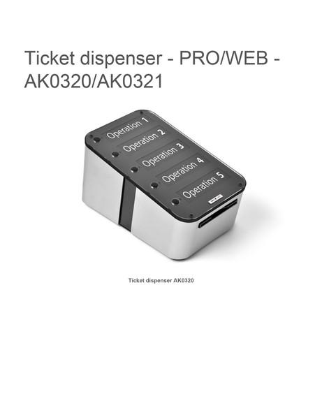 Ticket dispenser proweb ak0320ak0321