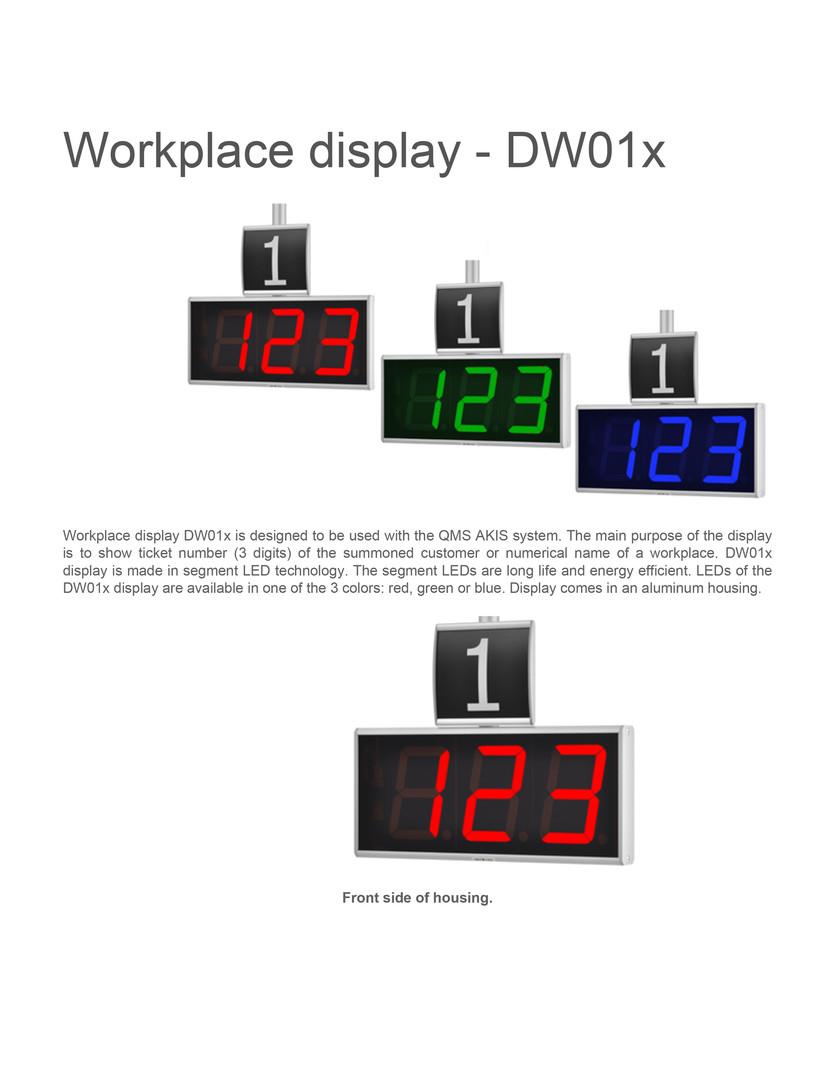 Workplace display dw01x