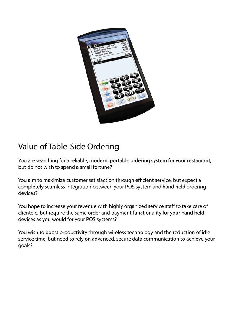 Portable ordering system qorder