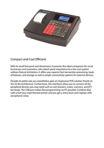 Electronic cash register QMP2000