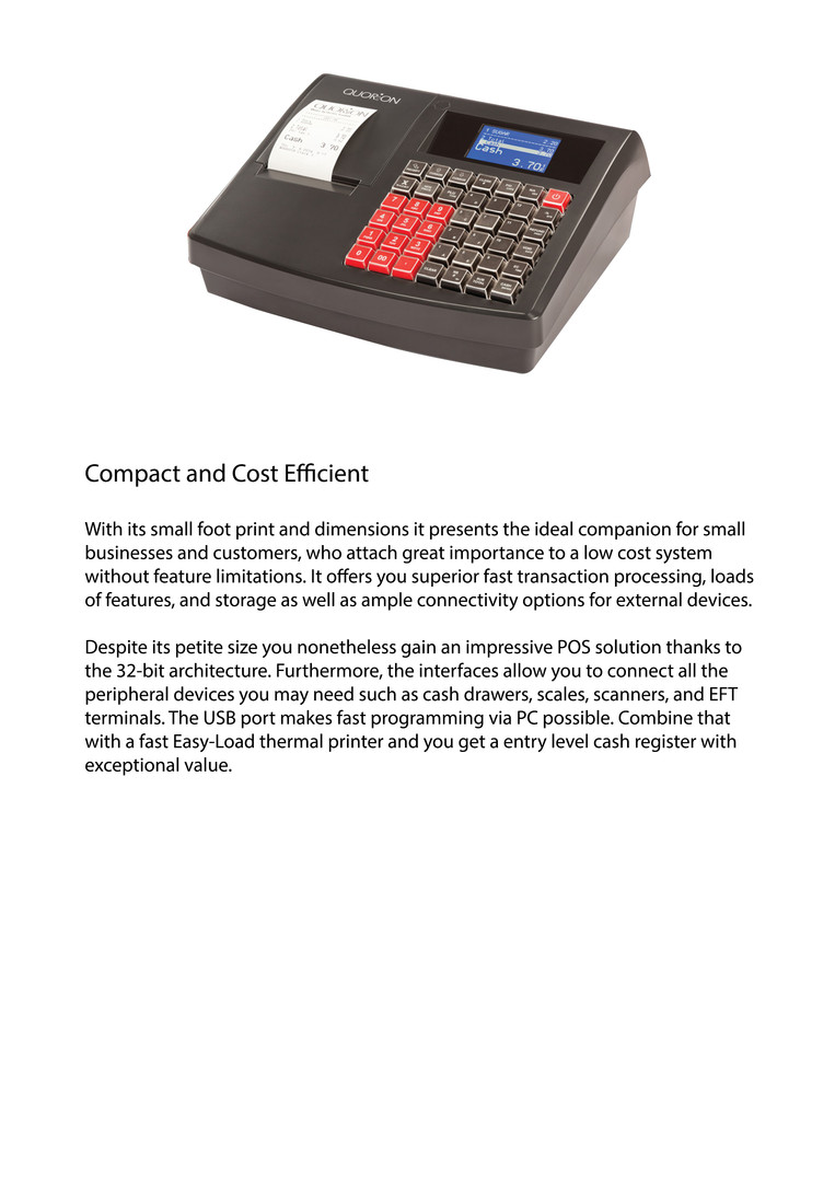 Electronic cash register QMP2000