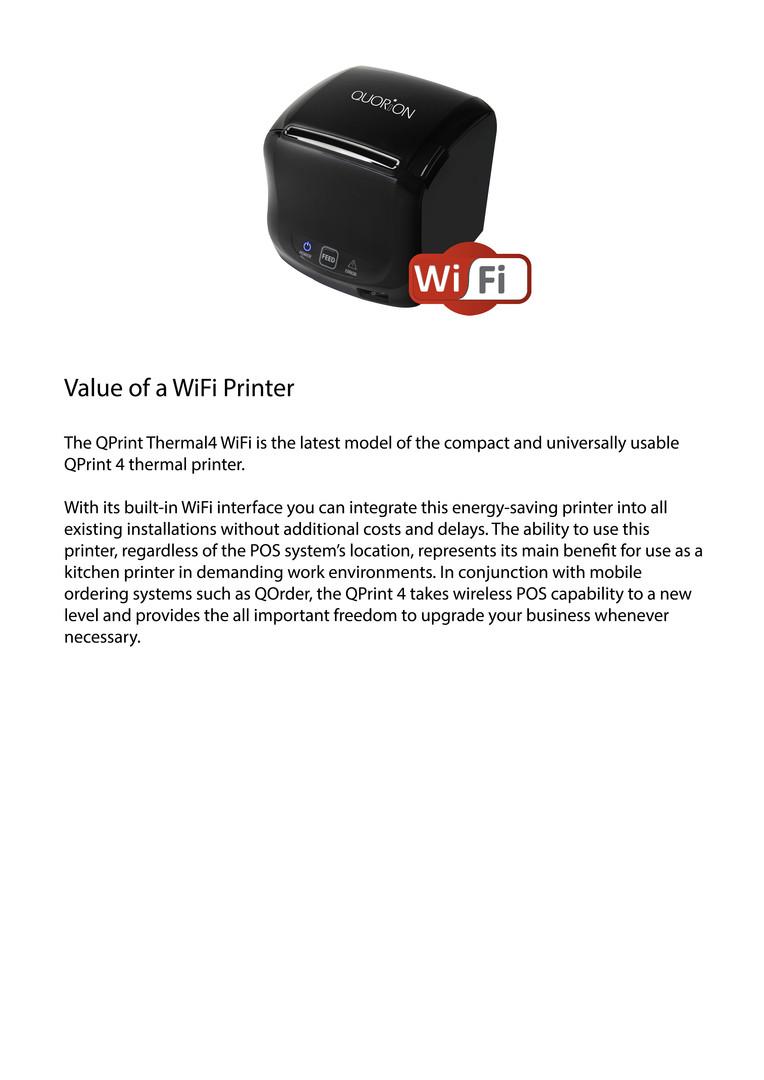 Wifi pos printer Qprint4
