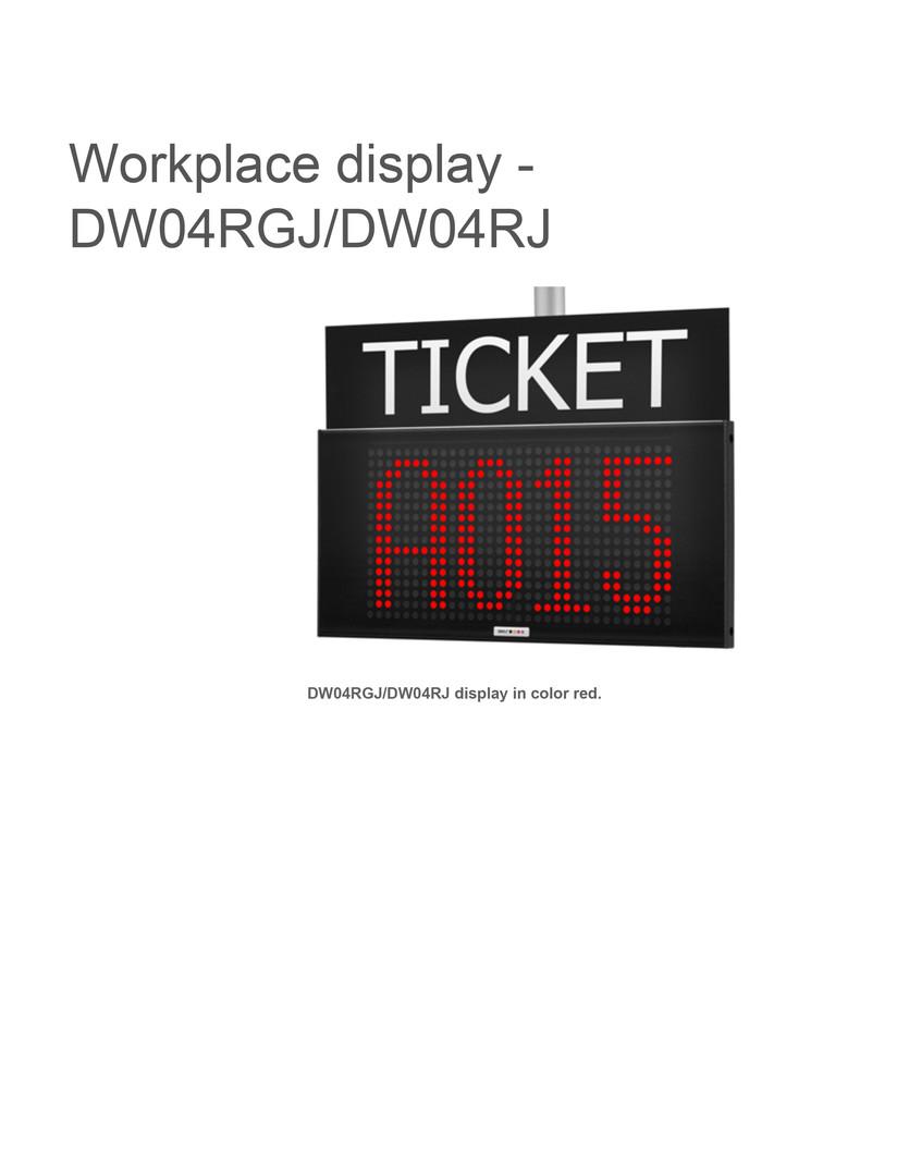 Workplace display dw04rgjdw04rj