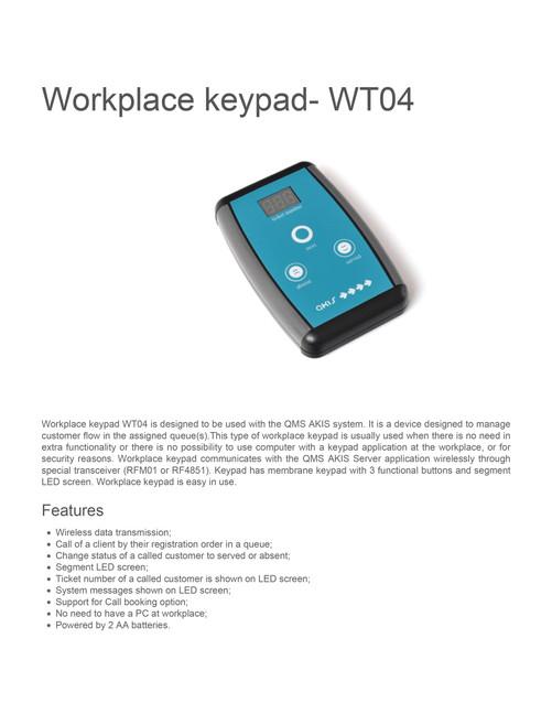 Workplace keypad wt04