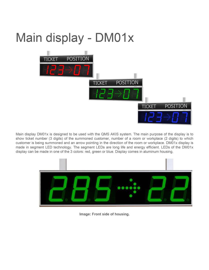 Main display dm01x