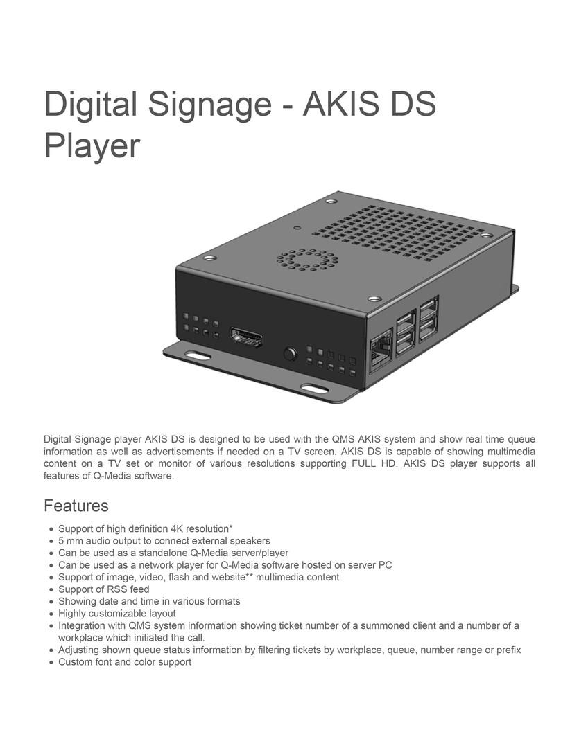 Digital signage akis ds player