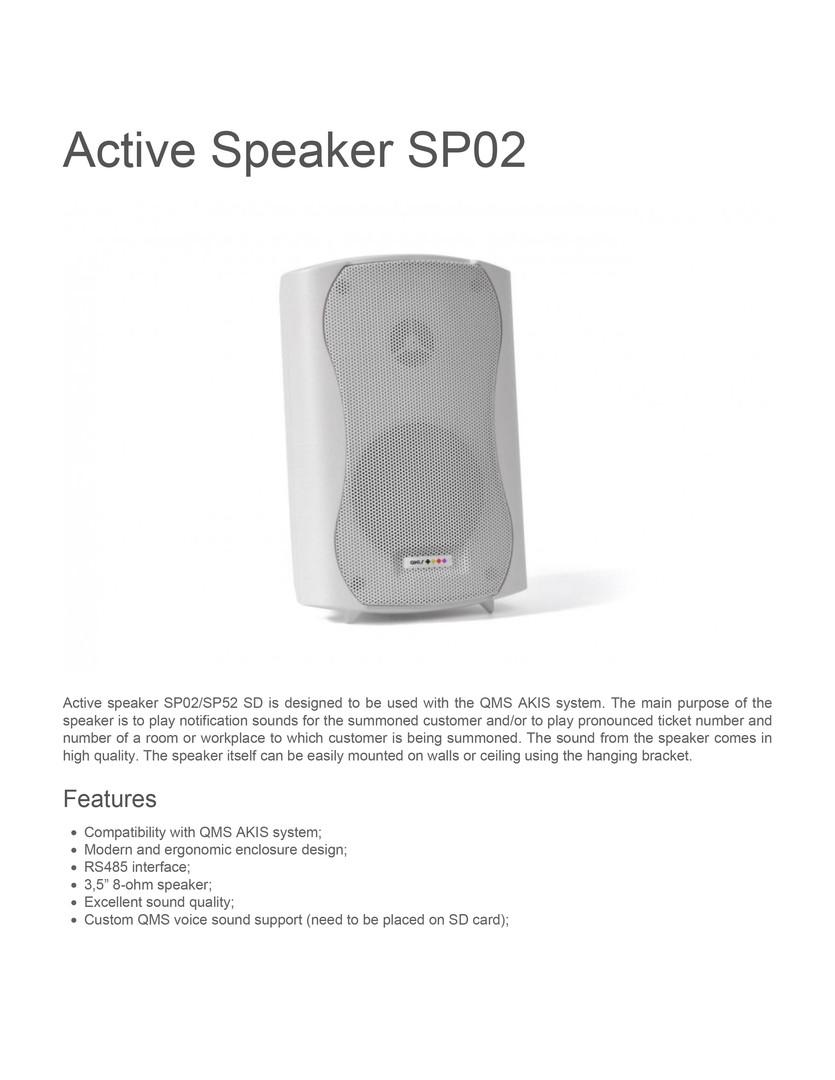 Active speaker SP02