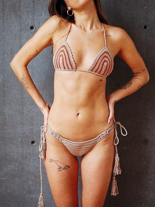 Mal Paso bikini ladrillo con camello