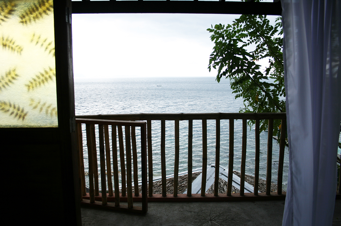 Your view of the ocean from the bed.