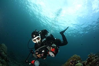 Underwater Photography with Arnel Sevilla photo taken by Carmela Sevilla at Portulano Resort Housereef