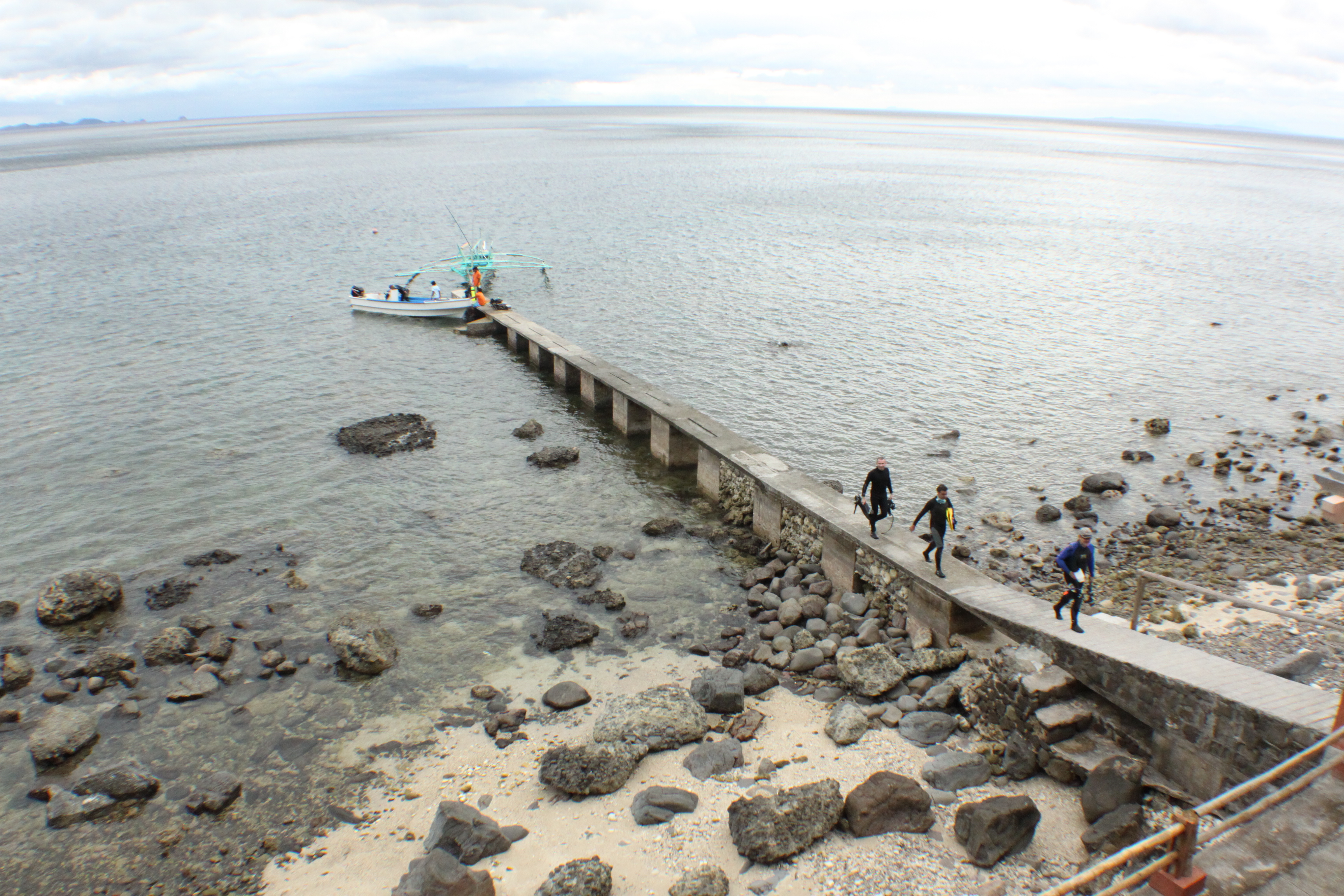 The house reef pier.
