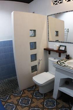 Rustic & clean toilets.