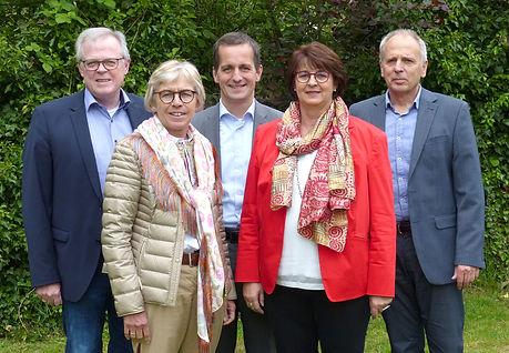 Neuer Vorstand v.l.n.r. Klaus Schuhmache