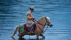 Lugu Lake and Horse