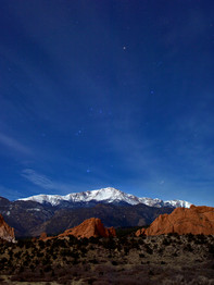 Pikes Peak Starry Night
