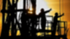 reflection, oil and gas, oilfield, sunset