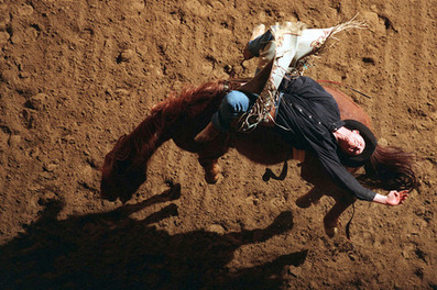 Bronc Busting From Above