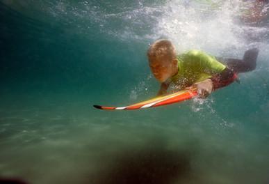 Diving Surfer