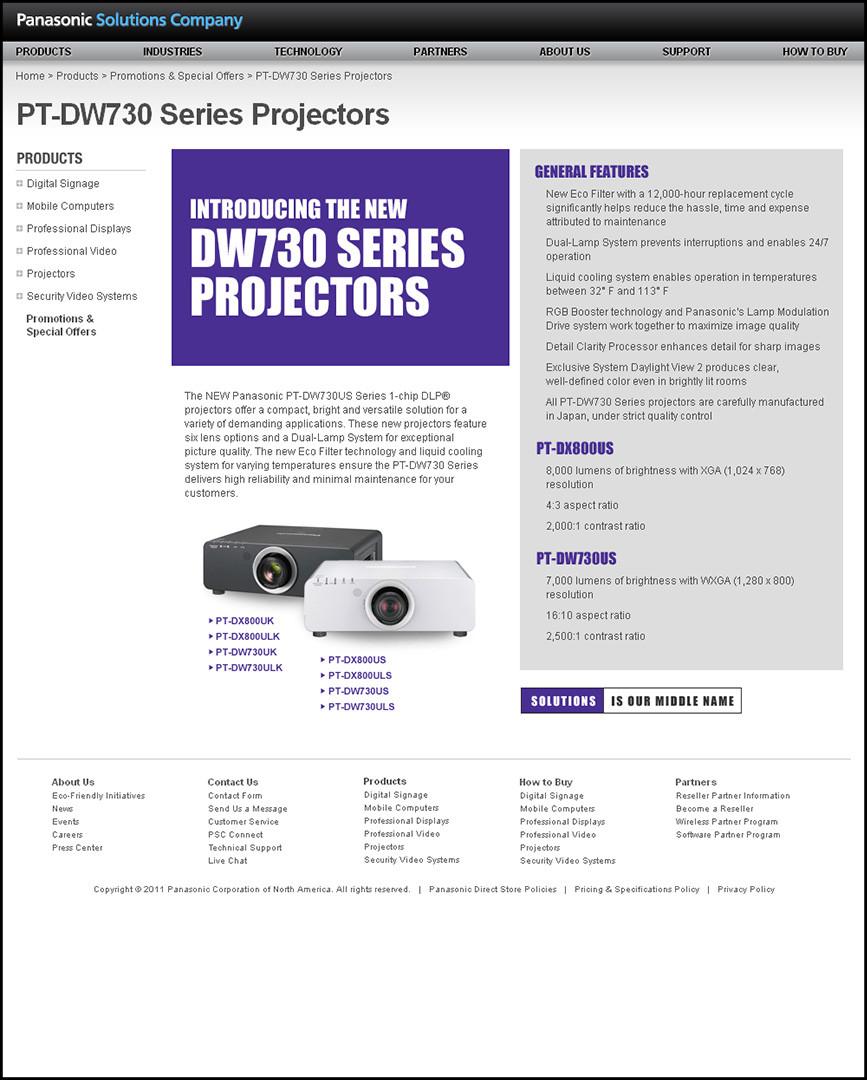 PSC Website - Projector Series