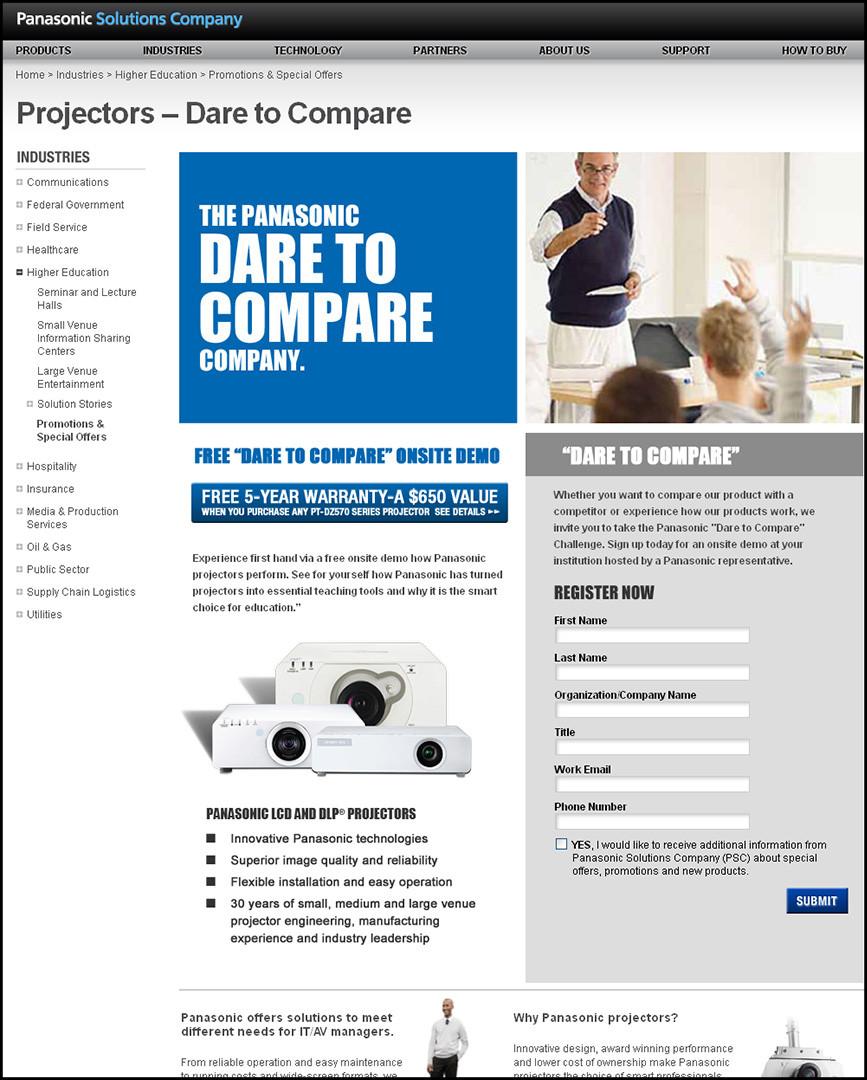 PSC Website - Projectors