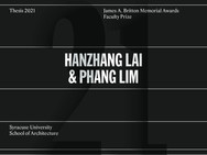 Hanzhang is awarded Britton Memorial Awards Faculty Prize for her Thesis.  May, 2021
