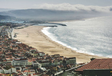 Hill view from top of Nazaré