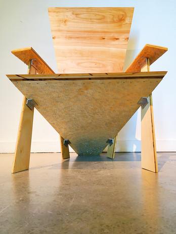 Plywood, steel staples