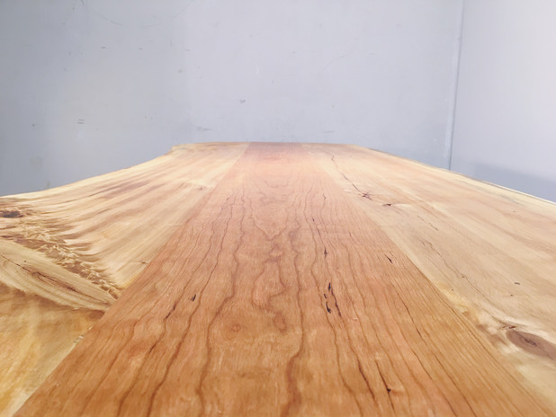 Cottonwood, cherry, ambrosia maple, steel packing strips